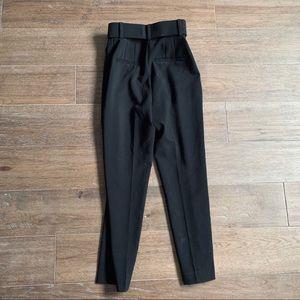 Zara Pants - Zara High-Waisted Belted Pants (Black)